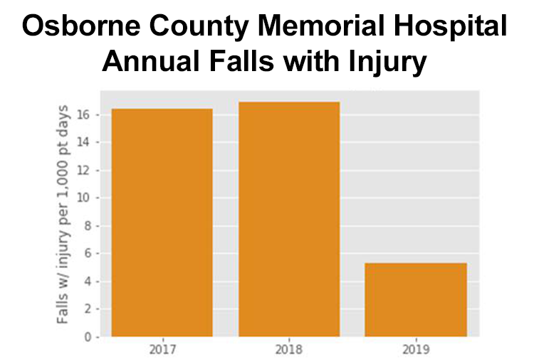 Annual Falls with Injury - Osborne Co. Memorial Hospital